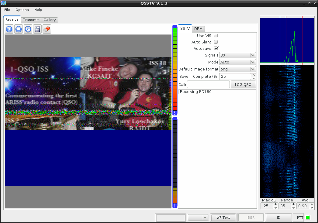 Decoding SSTV from a file using Linux